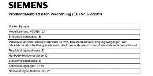 Siemens VS06B112A Staubsauger mit Beutel